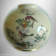 Lenox Large Bone China Vase With Birds And Floral