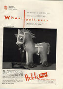 1951 Paper Ad Hol-le Toys Pull Toy Pony Soft Plastic Dolls