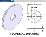 Gasket Outside Diameter 104mm Thickness 5mm Select Inside Dia Material Pack