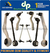 Mercedes W212 4matic Front Control Arm Ball Joints Sway Bar Outer Tie Rods Set 8