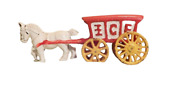 Vintage Cast Iron Ice Brand Wagon And Horse