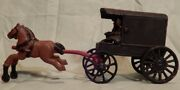 Amish Buggy And Horse Two Pieces Cast Iron