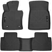Husky Weatherbeater Front And 2nd Seat Floor Liners Black For Toyota Camry 18-20
