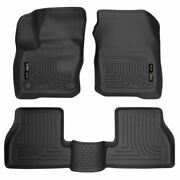 Husky Weatherbeater Front And 2nd Seat Floor Liners Black For Ford Focus Rs 16-18