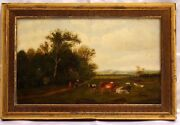Magnificent O/c Painting By Thompson Henry- Grinnell