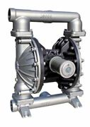 Double Diaphragm Teflon Air Pump Pii.50s Chemical Industrial Stainless Steel 1/2