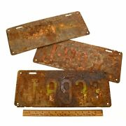 Vintage New Jersey License Plate Lot Of 3 N.j. Plates 1932, 1933 And 1934 Rusty