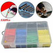 530pc Car Electrical Wire Heat Shrink Able Butt Tubing Terminal Connector Tubing