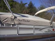 Suntracker  Boat Cover, P/n 305709 Party Barge 20,red, Priced To Sell