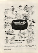 1948 Paper Ad Strombecker Toy Co Doll Houses Train Sets Pull Toys Electric