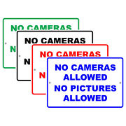 No Cameras Allowed No Pictures Allowed Privacy Policy Aluminum Metal Sign