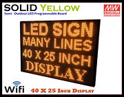 40x25 Inch Yellow Wifi Semi-outdoor Indoor Led Scrolling Sign Super Fast Ship