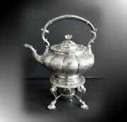 Sheffield Silver Plate Teapot With Burner - Reproduction