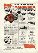 1959 Paper Ad Vanguard Great Lakes Tractor Toy Pedal Car Gas Engine Go Cart Kart
