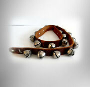 Sleigh Bells On 44 Inch Leather Strap - 18 Bells