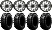 System 3 Sb-3 Machined 15 Wheels 29 Carnivore Tires Rzr Xp 1000 / Pro Xp