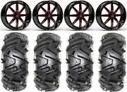 Fuel Maverick Red 18 Wheels 32 Moto Mtc Tires Kawasaki Mule Pro Fxt