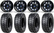 Fuel Lethal Blue 15 Wheels 32 Chicane Rx Tires Can-am Defender