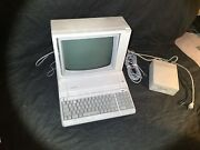 Apple 2e Iie Computer With Monitor And 3 Disks