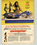 1967 Paper Ad Kenner's Toy 2 Sided Swingster Phonograph Record Player 45 Rmp