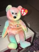 Ty Beanie Baby Peace Bear Original Collectible