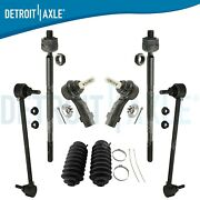 8pc Front Inner And Outer Tie Rods And Sway Bars For 2013 2014 2015 2016 Dodge Dart