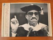 Vtg Wire Ap Press Photo Lionel Richie Boston College Honorary Doctor Of Music