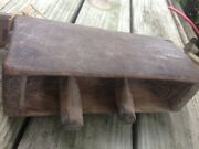 Antique Wooden Cowbell South East Asia Primitive Large Old