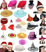 Women Girls Hat Cap Christmas Halloween Easter New Year Party Events Fancy Dress