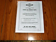 This Vintage Karting West Bend Engine Div. Parts List And Prices 1963 14 Pages