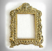 E G Webster Gold Gilt Picture Frame - Cherubs And Lions