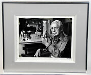 Rare Alfred Eisenstaedt Norman Rockwell Signed Photo Photograph