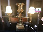 Antique Solid Brass Oil Lamps That Have Been Converted To Electrivity.