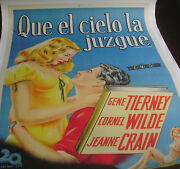 Leave Her To Heaven Linen Argentinean And0391950s Re-release/gene Tierney