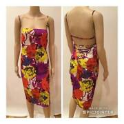 Gianni Versace Sexy Lace Tie Back Halter Dress Size It 40
