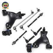 New 8pc Complete Front Suspension Kit Lower Control Arms Ball Joint Tie Rod Ends