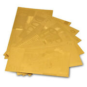 Full Sets Gold Euro 5.10.20.50.100.200.500 Gold Foil Banknote Collection
