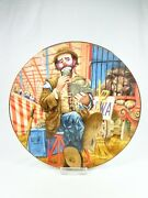 Vintage Royal Manor Porcelain Plate Clowns Of The Circus Emmett Kelly 1st Edit