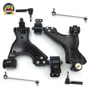 8pc Steering And Suspension Kit Control Arms W/ Bushings Tie Rods End Links