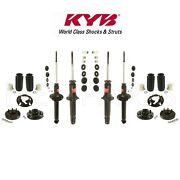 Front And Rear Shock And Mounts W/ Bellows And Coil Insulators Kyb For Honda Accord