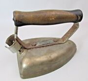 Vintage Western Electric 1a Iron Wood Handle For Display Door Stop Decorating