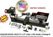 Sherline 4410b-cnc 3.5andprime X 17andprime Lathe Cnc Ready + Package B Metric Version