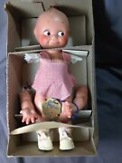 Vintage Compo Rose Oandrsquoneill Kewpie Cameo Doll Hang Tag Orig Box 9713 Re-string