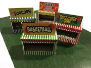 Model Train O Scale Circus Carnival Booth Stand Kit - Makes 4 Game/food Stands