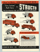 1950 Paper Ad 2 Pg Structo Toy Trucks Dump Tow Wrecker Tanker Tractor Trailer