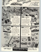 1957 Paper Ad Tootsietoy Toy Sets Farm Road Building Fire Department Playtime