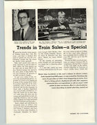 1957 Paper Ad 5 Pg Article Toy Electric Trains Store Display Photos