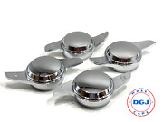 2 Bar Chrome Dome Smooth Knock-off Spinners For Lowrider Wire Wheels