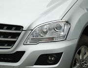 Mercedes W164 Ml Chrome Headlamp Surrounds Models From August 2008 Onwards