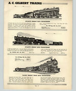 1952 Paper Ad 19 Pg A C Gilbert Electric Train Sets American Flyer Smoke